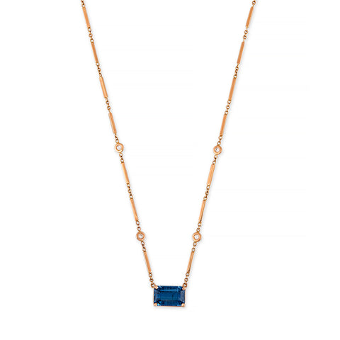 KYANITE BAGUETTE SMOOTH BAR NECKLACE