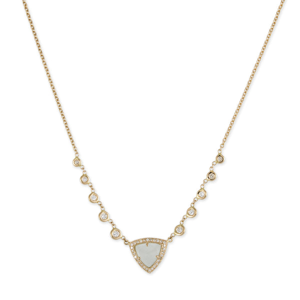PAVE MOONSTONE PYRAMID EMILY NECKLACE