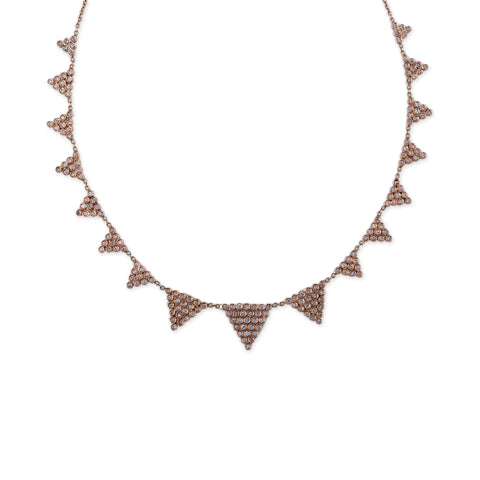 DIAMOND TRIANGLE COLLAR NECKLACE