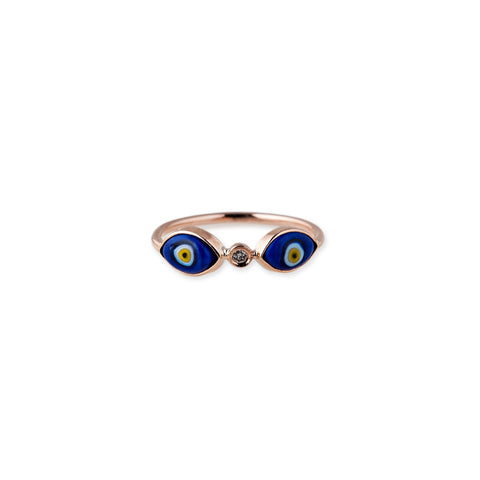 1 DIAMOND DOUBLE MARQUISE EYE RING
