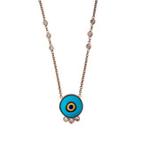 3 DIAMOND ROUND EYE NECKLACE