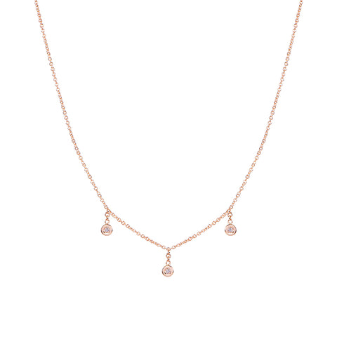 3 DIAMOND DROP NECKLACE