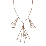TRIPLE DIAMOND TASSEL NECKLACE