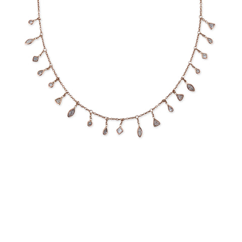 DIAMOND SHAPES SHAKER NECKLACE