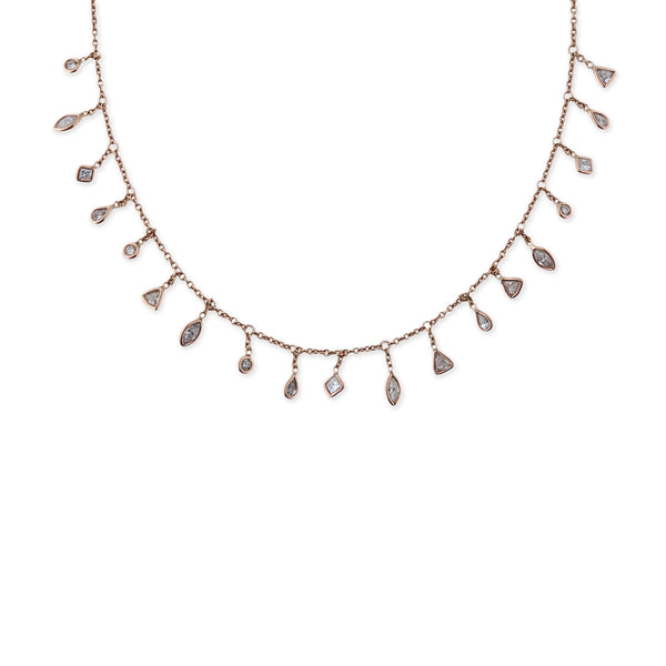 MULTI SHAPE SHAKER DIAMOND NECKLACE