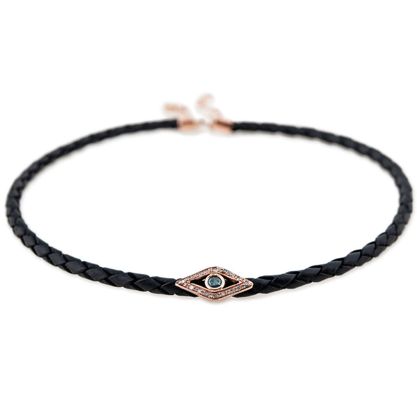 BLUE DIAMOND EYE CHOKER