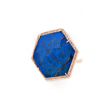 LAPIS HEXAGON RING