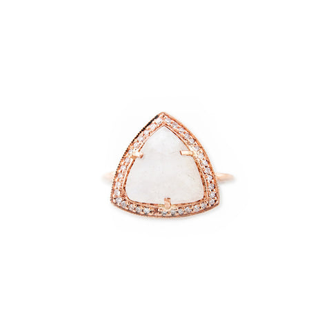 TRIANGLE RING - ASSORTED GEMSTONES