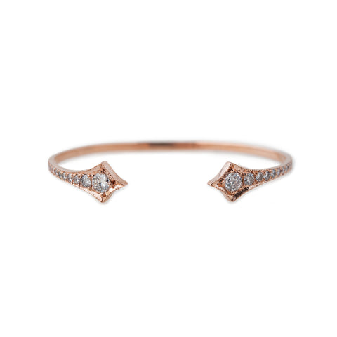 GRADUATED DIAMOND DOUBLE KITE CUFF