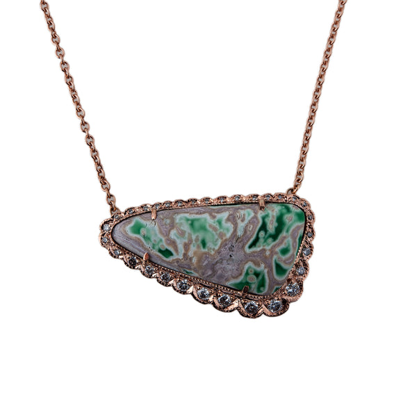 VARISCITE TRIANGLE NECKLACE