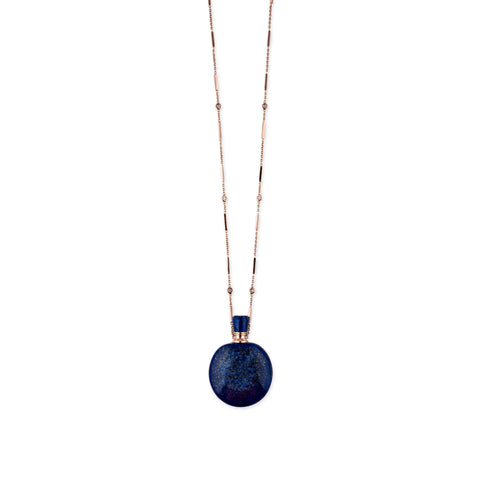 LAPIS POTION BOTTLE BAR CHAIN NECKLACE
