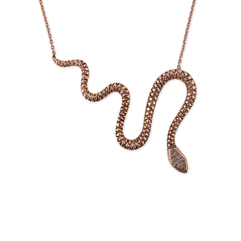 CARVED SNAKE NECKLACE