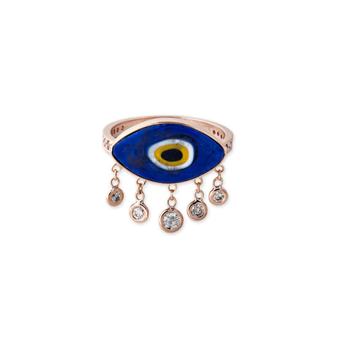 5 DIAMOND DROP MARQUISE EYE RING