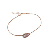 LONG MOONSTONE TEARDROP ANKLET