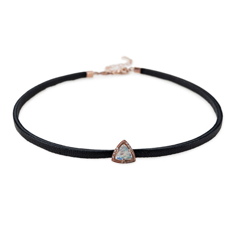 S&H MOONSTONE TRIANGLE CHOKER