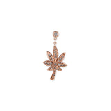 1 DIAMOND PAVE SWEET LEAF DROP EARRINGS