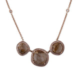 3 ROUND RUTILATED QUARTZ NECKLACE