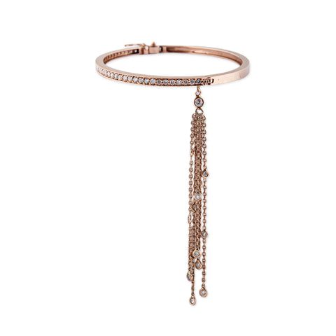 DIAMOND TASSEL PAVE HINGE BANGLE