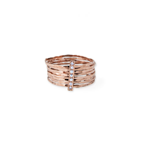 DIAMOND BAR MULTI WAIF RING