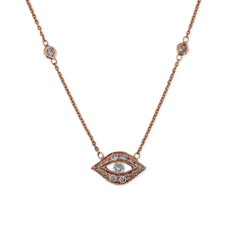 DIAMOND CENTER EYE NECKLACE