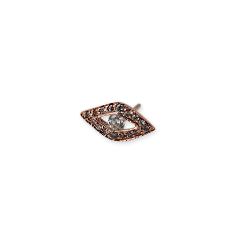 Diamond Center Eye Stud