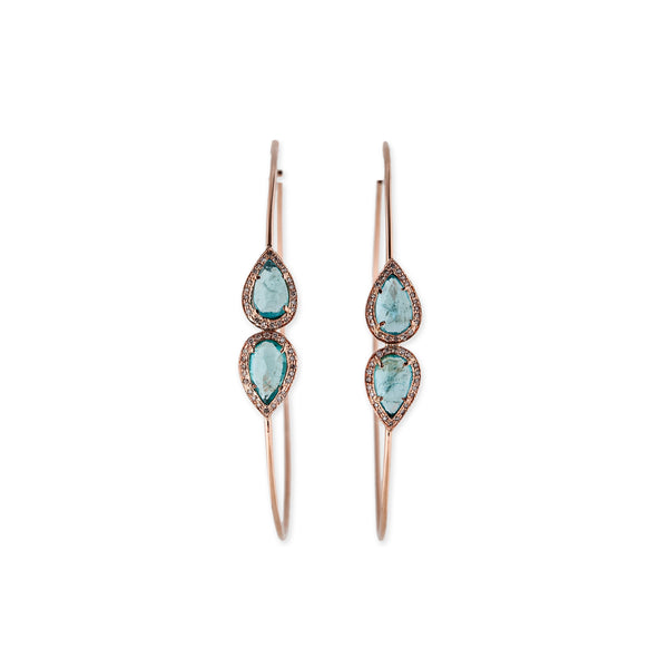 MIRRORED APATITE TEARDROP HOOPS