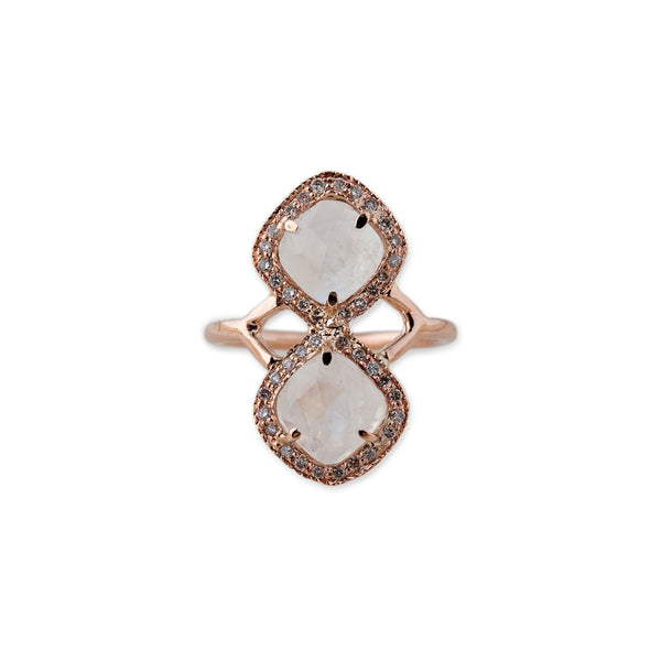 MINI MOONSTONE TRINITY RING