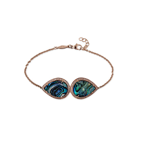 MIRRORED ABALONE TEARDROP BRACELET