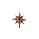 GEMSTONE SHINING STAR STUD