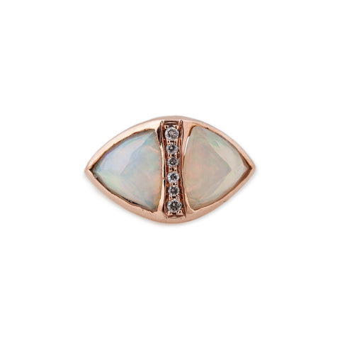 MEDIUM DOUBLE PYRAMID OPAL RING