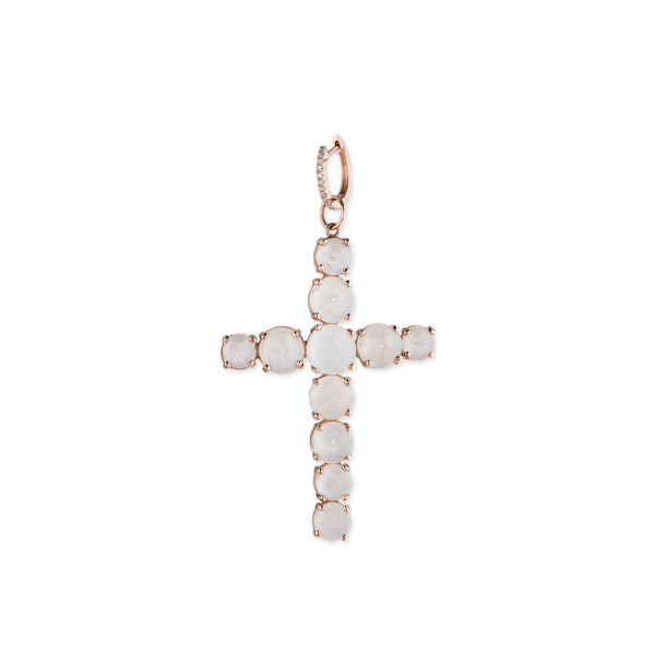 MOONSTONE CROSS CHARM