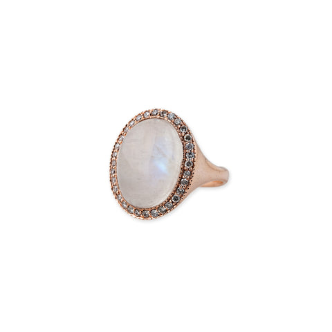 MOONSTONE DOME COCKTAIL RING