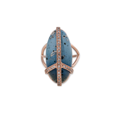 LELAND BLUE PAVE PEACE RING