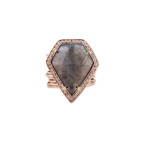 GEMSTONE PENTAGON MULTI WAIF RING