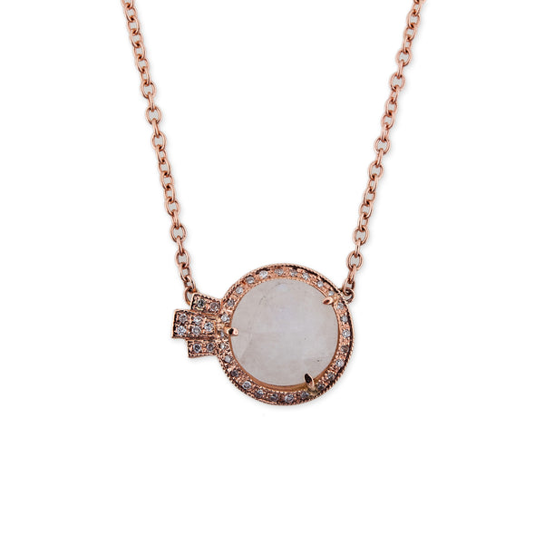 ROUND MOONSTONE DECO NECKLACE