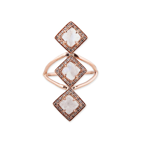 GEMSTONE VERTICAL KITE RING