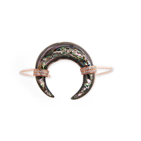 ABALONE DOUBLE HORN CUFF