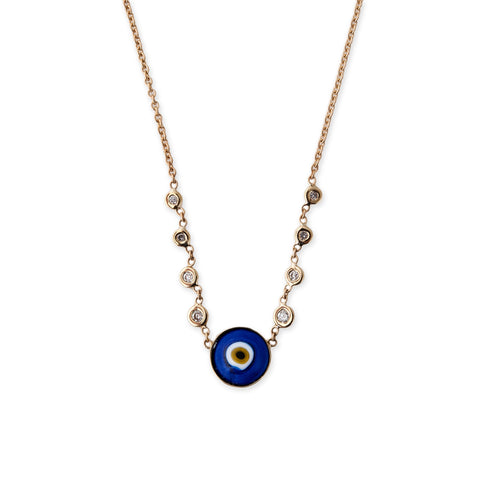8 DIAMOND ROUND EYE NECKLACE