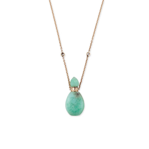 CHRYSOPRASE ALADDIN POTION BOTTLE NECKLACE