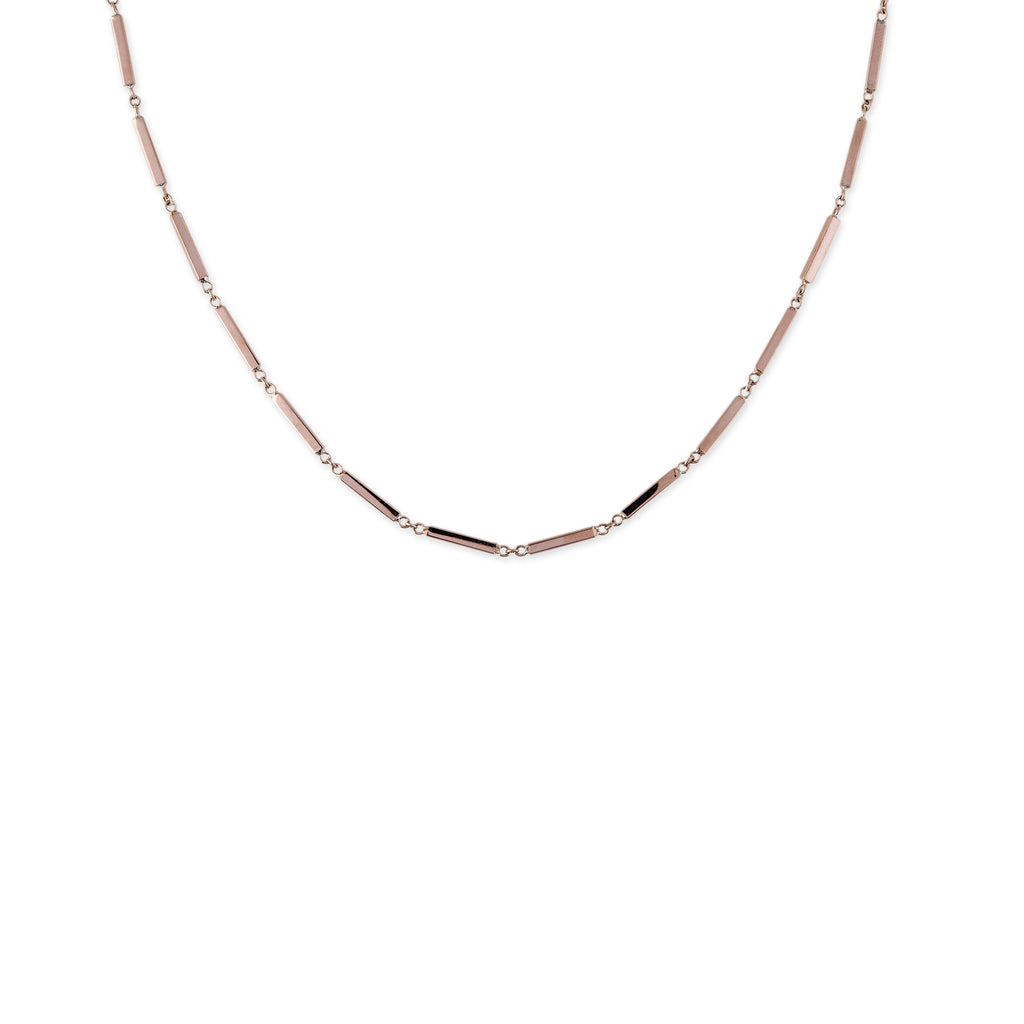 Smooth Bar Chain Necklace
