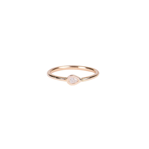 TEARDROP DIAMOND WAIF RING