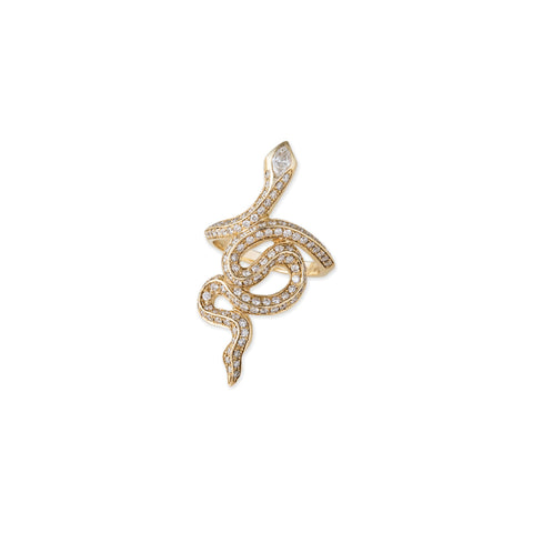 FULL PAVE MARQUISE DIAMOND HEAD SNAKE RING
