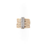 MIXED METALS BRICK MULTI WAIF RING