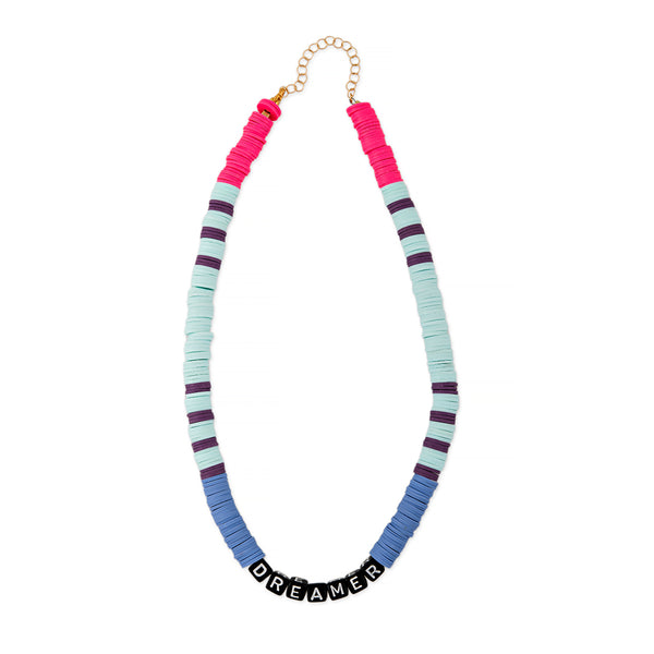 ZOE AICHE STRIPED HEISHI BEADED DREAMER NECKLACE