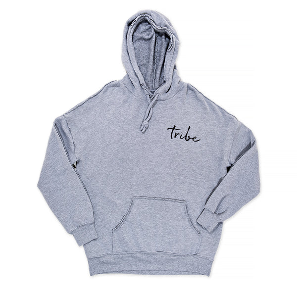 RAW HEM FLOWER CROWN GREY HOODIE