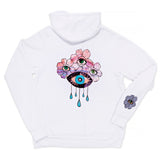 FLOWER CROWN WHITE ZIP HOODIE