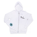 SWEET LEAF CROWN WHITE ZIP HOODIE