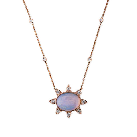 OPAL SUNBEAM NECKLACE