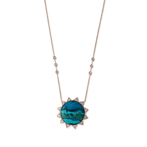 AZURITE SUN NECKLACE
