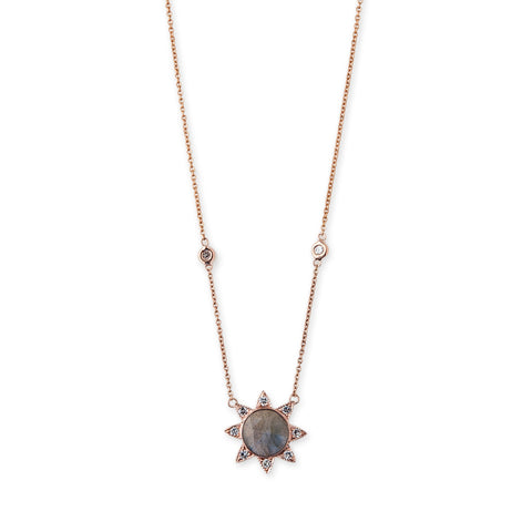 LABRADORITE SUNFLOWER NECKLACE